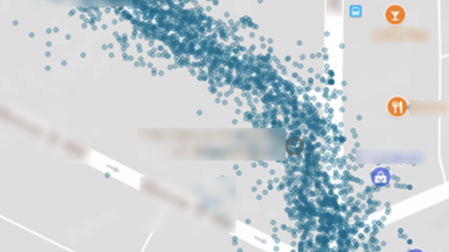 Visualizing a daily commute