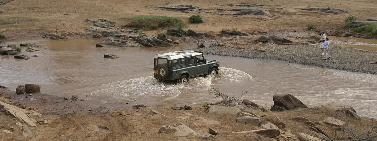 Jeep in the Mud in Kenya
